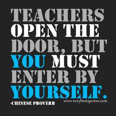 ... this The Day Learning Teachers Open Doors Inspirational Quotes picture