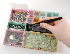Modular snap-together boxes for organizing all of your tiny little project components. From Adafruit Industries