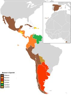 - How to say Banana in Spanish.More word maps...