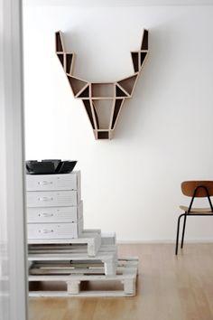Cool bookshelf designed by BEdesign, Finland #InteriorDecorInspiration #Shelves