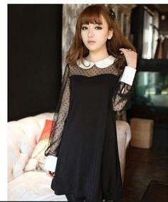 Emma Stone Style Black Cute Dress