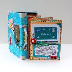 Travel Accordion Album and Suitcase by Rebecca_MamaBee - Cards and Paper Crafts at Splitcoaststampers
