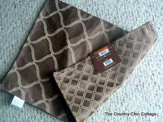 Placemat pillows. Carefully open one of the seam edges with a seam-ripper, stuff, re-sew. So easy and cheap!