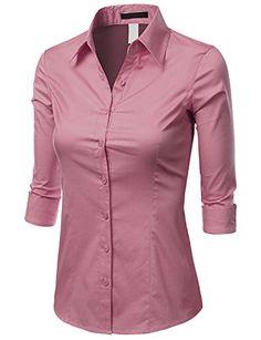 Doublju Women 3/4 Sleeve Basic Simple Spandex Shirt Doublju http://smile.amazon.com/dp/B00L3XP0OO/ref=cm_sw_r_pi_dp_8WTRub1VSYB2B