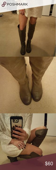 Buttery soft leather over the knee boots! Grippy treads for the season,  lightly distressed. Awesome! Matches everything! Nordstrom Shoes Over the Knee Boots