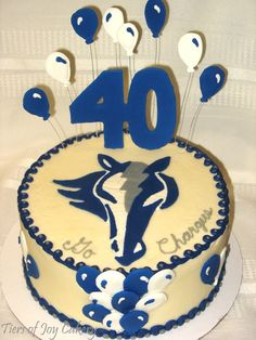 Cole Valley School Chargers horse mascot cake.