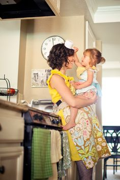Sometimes, unexpected locations (like a kitchen) can be the setting for the most striking pictures with your kids.