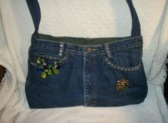 cute purse made from old jeans!