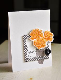 Just Because Card by Maile Belles for Papertrey Ink (July 2012)
