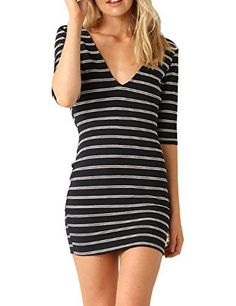Just Quella Womens Bodycon Slim Fit Stripe Mini Dress 6012 (M, Black)  The best clothing deals are fashion forward designs that are  in style and that you are comfortable in.  Therefore take a look at these best clothing deals under $10. There are many types of dresses to chose from  A line dress, Maxi dress, flowing dress and you will find all kinds of stylish  colors such as red, blue, purple, green, black and yellow. All things considered these are some of the  best women's dresses of…