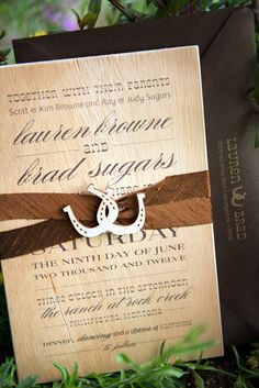 Western Theme Wedding Invitation