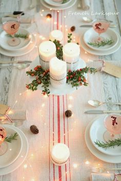 #Christmas #tableset | frenchlarkspur blog