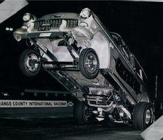 ol skool rodz 55 chevy wheelie, via Flickr.