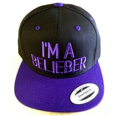 JUSTIN BIEBER HAT i am a belieber swaggy hat by winteriscoming2012, $20.00