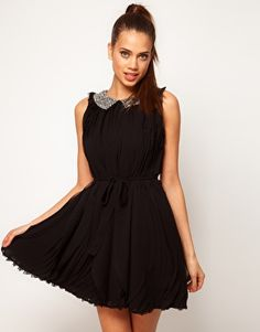 ASOS+Swing+Dress+With+Embellished+Collar