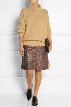 MSGM|Ribbed wool and cashmere-blend turtleneck sweater|NET-A-PORTER.COM