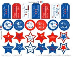 4th of July Gift Tags or Treat Tags (Free!) From Miss CandiQuik