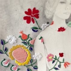 IZZIYANA SUHAIMI - Incredible artist mixing embroidery with other mediums.
