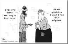 A funny cartoon about a homeless man asking a dieting fat lady with no willpower for some money so he can eat something. Diet Jokes, Diet Humor, Funny Diet, Fitness Humor, Diet Motivation, Weight Loss Motivation, Exercise Motivation, Weight Loss Humor, Funny Women Quotes