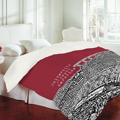 Buy Duvet Cover with Wisconsin Badgers Red designed by Bird Ave. One of many amazing home décor accessories items available at Deny Designs. South Carolina Homes, University Of South Carolina, South Carolina Gamecocks, Red Duvet Cover, Duvet Covers, Gamecocks Football, Red Design, Spare Room, Dorm Decorations