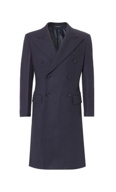 Navy King Coat, Slim Fit - Crombie