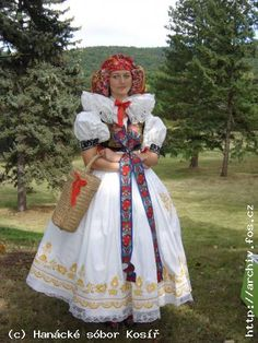 Czech Costumes: Kroj from Hana Prague Czech Republic, Europe, Folk Costume, People Of The World, Pattern Art, Art Patterns, Beautiful Patterns, Traditional Dresses, Dance Costumes