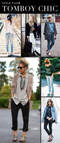 Tomboy Chic Inspiration for Spring Style. The big picture is the only one I need in life.  Definitely fits my style