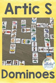 "Artic ""S"" dominoes is a fun way to work on /s/.  Also comes without pictures for older students. #artic #speechtherapy #speech"