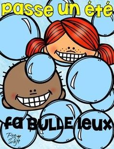 FREE - Cadeau fin de l'année Enjoy this End of the Year Freebie for your students - Passe un été fa○bulle○leux - perfect to attach to a container of bubbles for the summer! French Teaching Resources, Teaching French, Teaching Tools, Teacher Resources, Student Gifts, Teacher Gifts, End Of Year Activities, Core French, Teachers Corner