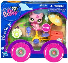 Littlest Pet Shop Pets On the Go Collection Series Retired 2012 Hasbro Bobble Head Toy Brand New in Package #1846 LPS Pink Kitty Cat with Tricycle, Basket, Umbrella, and Sweet Treat Ice Cream Accessories In Stock Now at http://www.bonanza.com/listings/LPS-Littlest-Pet-Shop-Kitty-Cat-Tricycle-Ice-Cream-Basket-1846-Pets-on-the-Go/159485571