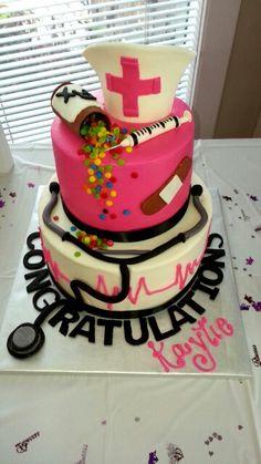 This cake is my friends nursing graduation cake...it's fab so is she!! Kaytie…