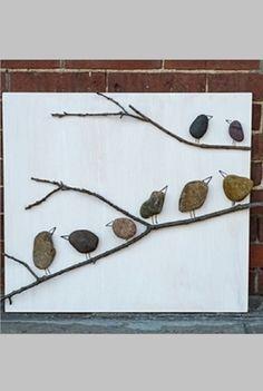 Make TREE BRANCH BIRD ART