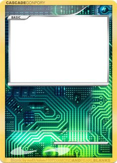 Pix For > Blank Pokemon Card Template
