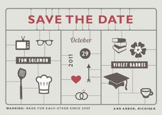 cool save the date idea.
