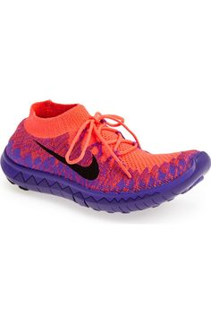 new product d6ecf 9a07e NEW NIKE FREE 3.0 FLYKNIT SHOES WOMENS sz 10 PURPLE PINK ORANGE running  718420  Nike  RunningCrossTraining   Orange You Pretty in Pink!