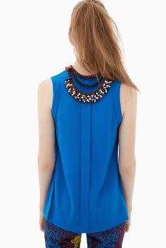 Collar étnico con pieza naranja | Adolfo Dominguez shop online