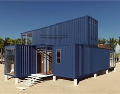3 X40FT Prefabricated / Prefab Modular Movable Container House on The Beach.