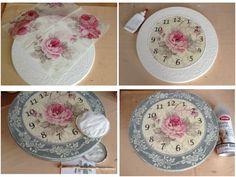 Si te gusta la decoración vintage y romántica, ¡te encantará ver el paso a paso de este reloj!