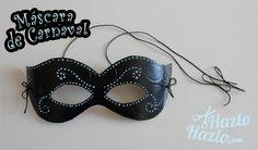 Máscara Carnaval hecha a mano.