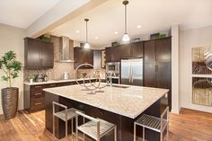 I Doubt the Stools Would Be Comfortable But they Sure Look Cool! Dark Kitchen Cabinets, Look Cool, Stools, Kitchens, Cool Stuff, House, Ideas, Home Decor, Cool Things