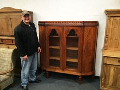 Michael from San Antonio bought this beautiful flume mahogany china cabinet for only $375!