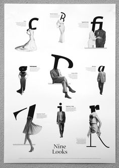 Nine Looks. #poster #graphicdesign