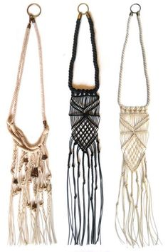 Cold Picnic Macrame Necklaces - Handmade Jewelry and Fashion from Brooklyn Designers - Harper's BAZAAR Collar Macrame, Macrame Necklace, Macrame Jewelry, Boho Jewelry, Handmade Jewelry, Jewelry Design, Jewlery, Brooklyn Style, Fashion Accessories