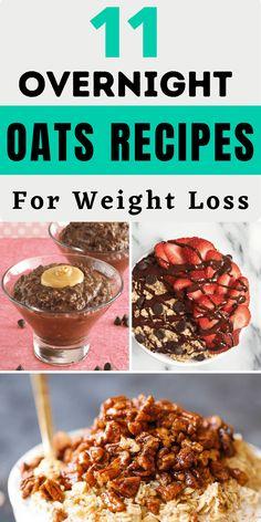 Healthy Recepies, Healthy Dishes, Healthy Treats, Eating Healthy, Sweet Breakfast, Breakfast Dishes, Breakfast Ideas, Breakfast Recipes, Best Overnight Oats Recipe