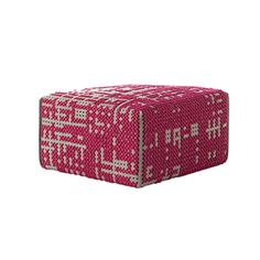 Gan Canevas Abstract Square Pouf | Shop for Gan @ ferriousonline.co.uk