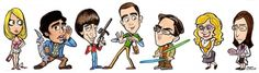 The Big Bang Theory cast caricature. by ~Durkinworks