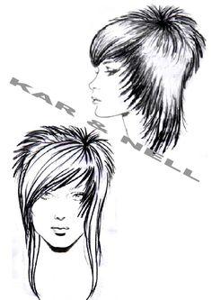 Résultats de recherche d'images pour « diagram of head for showing haircuts »