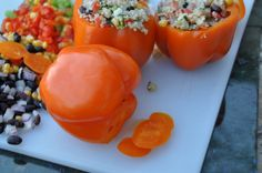 Stuffed Peppers with Black Bean and Quinoa Salad