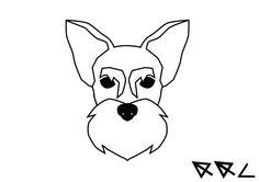 new Ideas for tattoo dog schnauzer Dog Tattoos, Mini Tattoos, Trendy Tattoos, Small Tattoos, Sleeve Tattoos, Animal Tattoos, Schnauzer Art, Miniature Schnauzer, Animal Line Drawings