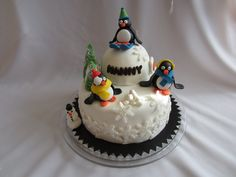 Birthday cake penguin